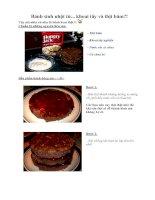 Tài liệu Bánh sinh nhật từ... khoai tây và thịt băm?! docx