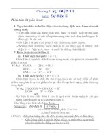 Bài giảng tổng hợp vô cơ 11 và 12