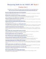 Tài liệu Sparpening skills for the toefl ibt part 10 pdf
