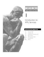 Tài liệu Introduction to XML Services pdf