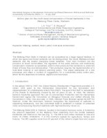 Tài liệu Action plan for the multi-level conservation of forest wetlands in the Mekong River Delta, Vietnam pdf