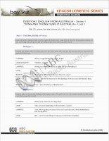 Tài liệu EVERYDAY ENGLISH FROM AUSTRALIA – Series 1.23 ppt