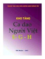 Tài liệu Kho tàng ca dao người Việt - vần E-G-H ppt