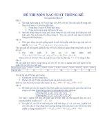 Tài liệu Tuyển tập đề thi xác suất thống kê_Đề số 02 pdf