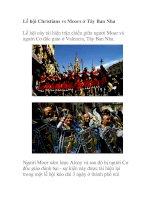 Tài liệu Lễ hội Christians vs Moors ở Tây Ban Nha docx