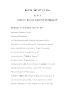 Tài liệu TOEFL STUDY GUIDE PART 3-2 STRUCTURE AND WRITTEN EXPRESSION docx