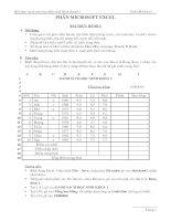 Tài liệu Bài thực hành môn học Máy tính Kinh doanh 1 - Phần Microsoft Excel docx