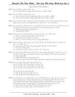 Bài soạn Bai tap on tap hinh hoc chuong 1 lop 6