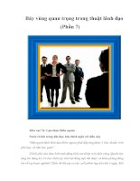 Tài liệu Bảy vùng quan trọng trong thuật lãnh đạo (Phần 7) ppt