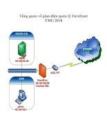 Tài liệu Tổng quan về giao diện quản lý Forefront TMG 2010 pptx