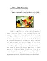 Tài liệu Kiến thức cần biết về thuốc: Không phải thuốc nào cũng dùng ngày 2 lần docx
