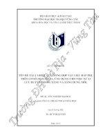 NGHIÊN CỨU TỔNG HỢP VẬT LIỆU HẤP PHỤ TRÊN CƠ SỞ ZEOLITE 4A. ỨNG DỤNG CHO VIỆC XỬ LÍ LƯU HUỲNH TRONG XĂNG VÀ XĂNG DUNG MÔI