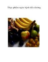 Tài liệu Thực phẩm ngừa bệnh tiểu đường doc