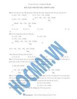 Tài liệu (Luyện thi cấp tốc Hóa) Trắc nghiệm và đáp án Aminoaxit ppt