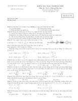 Tài liệu Bộ đề ôn thi tốt nghiệp phân ban môn lý đề 3 ppt
