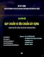 Quy chuẩn và tiêu chuẩn trong Xây Dựng_PGS.TS Nguyễn Văn Hiệp