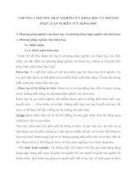 PHƯƠNG  PHÁP NGHIÊN CỨU KHOA HỌC VÀ PHƯƠNG PHÁP LUẬN NGHIÊN CỨU KHOA HỌC