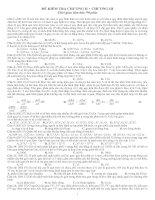 Tài liệu Luyện thi đại học phần di truyền học