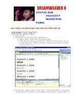 Tài liệu Dreamweaver Statu bar property Inspector- Panel docx