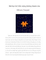 Tài liệu Bài học từ Giấc mộng không thành của Olivero Toscani pdf