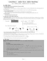 Tài liệu Chương 1 (Vật lý 11 cơ bản): Điện tích - Điện trường pptx