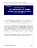 PHÒNG NGỪA rủi RO BẰNG các CÔNG cụ tài CHÍNH PHÁI SINH và HIỆU QUẢ HOẠT ĐỘNG TRONG dài hạn của các DOANH NGHIỆP IPO