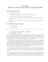 Chương V PHÂN TÍCH TÌNH HÌNH TÀI CHÍNH CỦA DOANH NGHIỆP