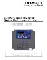 Tài liệu SJ200 Series Inverter Quick Reference Guide pdf