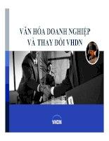 Tài liệu Văn hóa doanh nghiệp và thay đổi văn hóa doanh nghiệp. doc