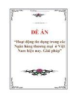 """Tài liệu Đề án """"Hoạt động tín dụng trong các ngân hàng thương mại ở Việt Nam hiện nay. Giải pháp"""" docx"""
