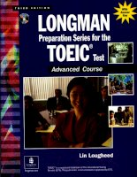 Tài liệu Longman preparation series for the toeic test advanced part 1 doc