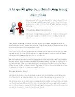 Tài liệu 8 bí quyết giúp bạn thành công trong đàm phán ppt