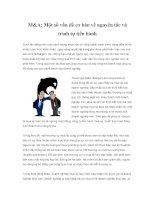 Tài liệu M&A: Một số vấn đề cơ bản về nguyên tắc và trình tự tiến hành Dưới tác pptx