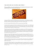 Tài liệu TÌM CÁCH BẢO VỆ THƯƠNG HIỆU-PHẦN 1 pptx