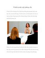Tài liệu Trình tự một cuộc phỏng vấn pptx