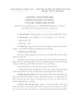 Tài liệu CHƯƠNG TRÌNH MÔN HỌC NHỮNG NGUYÊN LÝ CƠ BẢN CỦA CHỦ NGHĨA MÁC-LÊNIN doc