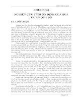 Tài liệu GIẢI TÍCH MẠNG - CHƯƠNG 8: NGHIÊN CỨU TÍNH ỔN ĐỊNH CỦA QUÁ TRÌNH QUÁ ĐỘ ppt