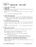 Bài soạn BT về Mệnh đề - Tập hợp