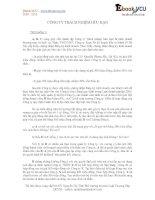 Bài tập tình huống luật doanh nghiệp