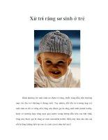 Tài liệu Xử trí răng sơ sinh ở trẻ doc