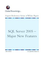 Tài liệu SQL Server 2005 – Major New Features pptx
