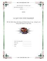 """Tài liệu Luận văn tốt nghiệp """"Khả năng vận dụng mô hình công ty mẹ - công ty con trong nền kinh tế Việt Nam"""" pptx"""