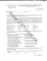 Tài liệu Đề thi tốt nghiệp THPT môn Tiếng Anh năm 2010 mã đề 708 docx