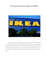 Tài liệu 10 bí quyết thành công của IKEA pptx