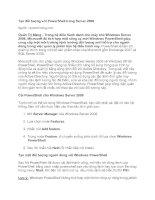 Tài liệu Tạo đối tượng với PowerShell trong Server 2008 doc