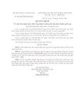 Bài soạn QĐ số 32 về trường Chuẩn QG Tiểu học