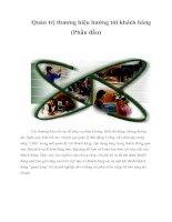 Tài liệu Quản trị thương hiệu hướng tới khách hàng (Phần đầu) pdf