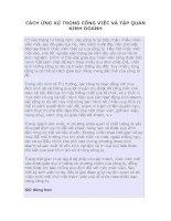 Tài liệu CÁCH ỨNG XỬ TRONG CÔNG VIỆC VÀ TẬP QUÁN KINH DOANH pptx