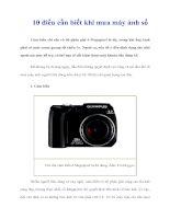 Tài liệu 10 điều cần biết khi mua máy ảnh số pptx
