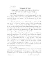 MỘT số GIẢI PHÁP NHẰM NÂNG CAO NĂNG lực của cán bộ QUẢN lý cấp TIỂU học TRÊN địa bàn HUYỆN